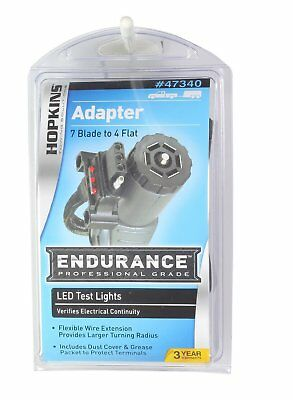 Hopkins 47340 Endurance 7 RV Blade to 4 Flat LED Test Lights Flex Adapter Towing