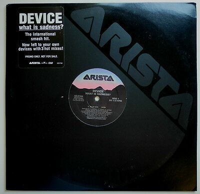 """12"""" Us**device - What Is Sadness? (Arista '91)***17819"""