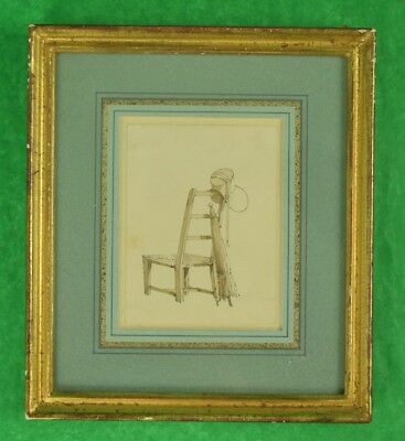 Paull Sandby, R.A. Ink & Wash on Paper of a Chair