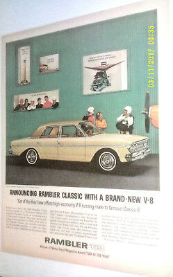 1963 Rambler Classic V-8 770 4-Door Sedan Automobile Original Ad