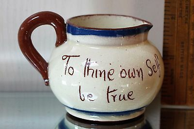 Devon Motto Ware - To Thine Own Self Be True - Vintage