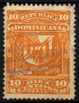 Dominican Republic 1895-7 SG#88a 10c Orange P14 Used #D62877