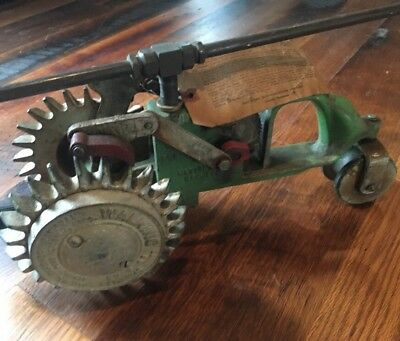 "HTF ORIGINAL TAGS Antique Cast Iron NATIONAL ""WALKING"" Lawn Sprinkler A5-2"