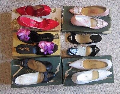 Vintage 1940's-50's Women's Shoes/Heels Lot of 6
