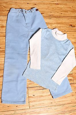 EUC Vintage Health-Tex JCPenney Pants Top School Outfit Made in USA Size 6x Blue
