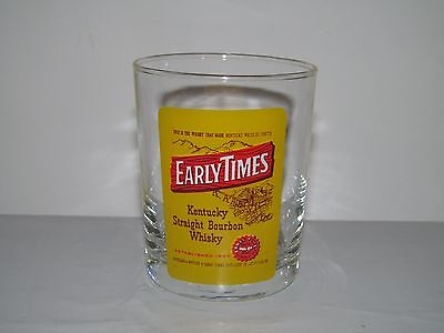 "EARLY TIME Kentucky Straight Bourbon Whiskey 3 1/2"" Tall Shot Glass EUC"