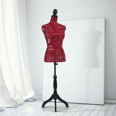 Female Mannequin Torso Dress Form Display W/ Wood Tripod Stand Pinnable Y9I4