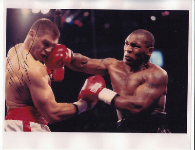 Mike Tyson Boxing Photograph with Printed Autograph