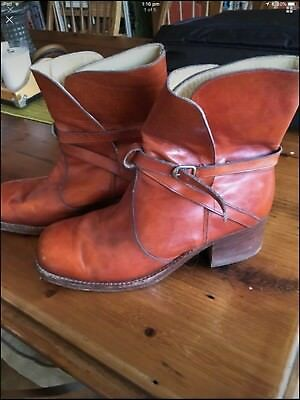 Vintage 70's James West Mens 10 Brown Tan Leather Western Boots Australian Made