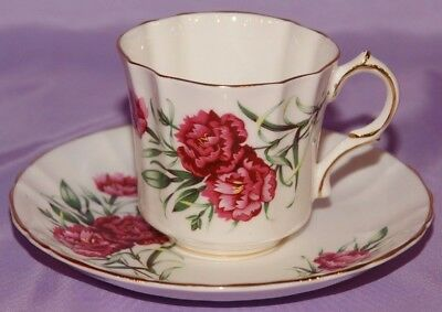 Flowers of Shakespeare's Bay THE CARNATION The Winter's Tale Teacup & Saucer Duo