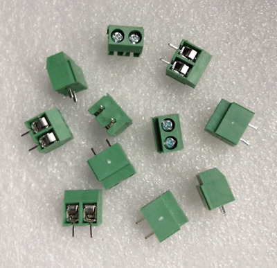 30Pcs 2 Pole 5mm Pitch PCB Mount Screw Terminal Block Connector 10A 300V JD
