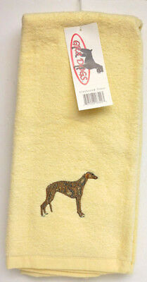 Greyhound  Dog Tea Towel, 16 In. X 24 In. Gr8 Dogs Item 18320