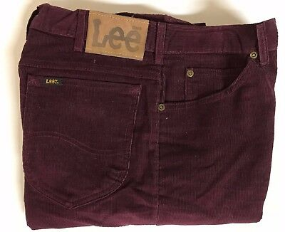 Vintage Men's 80s LEE Corduroy Jeans Sz 32x34 USA made Hipster Deadstock