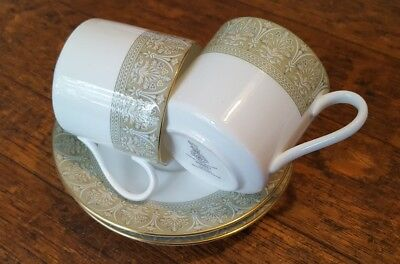 2 Royal Doulton Sonnet Demitasse Coffee Cups and Saucers Duos