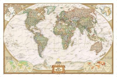 National Geographic World Map Art Decor Poster 48x32 40x27""