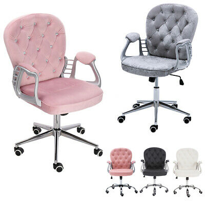 Small PU Leather Task Office Computer Shop Home Chair Swivel Desk Seat Adjustabl