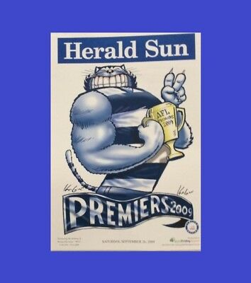 Geelong 2009 Afl Limited Edition Premiership Poster Mark Knight Weg #635