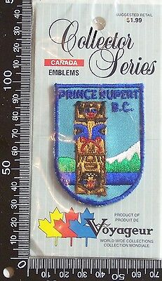 Vintage Prince Rupert Bc Embroidered Souvenir Patch Woven Cloth Sew-On Badge