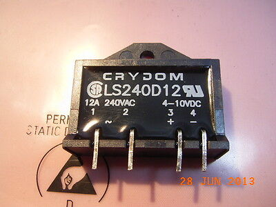 LS240D12 Solid State Relay Out 240VAC 12A In 4-10VDC SIP-4 CRYDOM