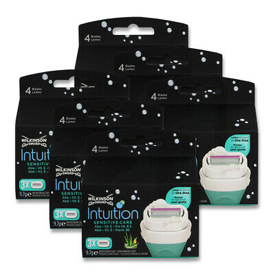 18x Wilkinson Intuition Sensitive Care Rasierklingen (6x 3er Packung)