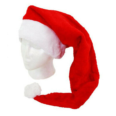 "Adult's Father Christmas 30"" Long Santa Claus Hat Fancy Dress Costume Accessory"