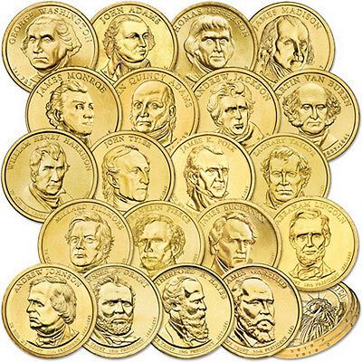 PRESIDENT DOLLARS LOT.PRESIDENTIAL 20 COIN SET 2007-2011 P or D