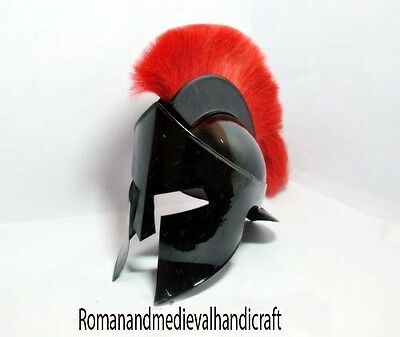 Medieval KING LEONIDAS GREEK SPARTAN Helmet-Movie 300 Roman Helmet W/Red Plum
