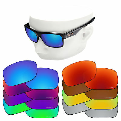 OOWLIT Iridium Replacement Lenses for-Oakley Twoface OO9189 Sunglasses Polarized