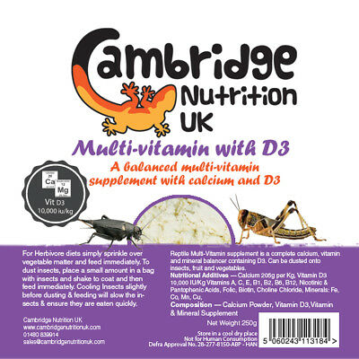 Reptile Multi-Vitamin with Calcium and D3