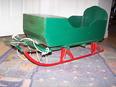 Antique child pull sleigh