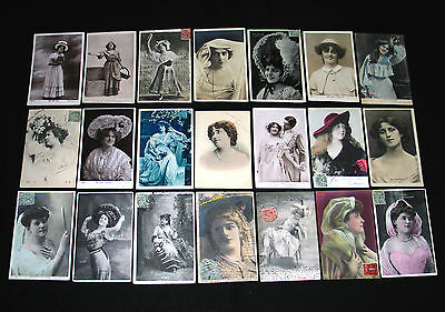 Lot D41 : 21 Cpa Miss Artiste Theatre Danse Spectacle Music-Hall Charme Pin-Up