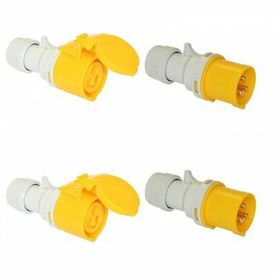 Site Trailing Plug & Socket 16 Amp 110 Volt 2 Sets 110v 16A PCE Quick Twist Lock
