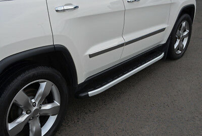 Aluminium Side Steps Bars Running Boards To Fit Jeep Grand Cherokee (2011+)