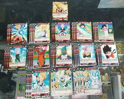 1 x RED Son Goku Dragon Ball Super TCG Deck Complete Tournament Ready 51 Cards