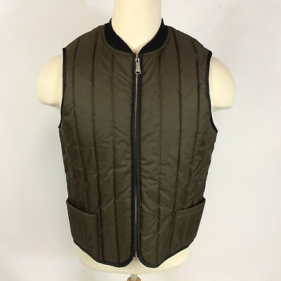 Minty Vintage 70s Sears Work Hunting Vest Jacket Quilted Brown Outdoors Winter L