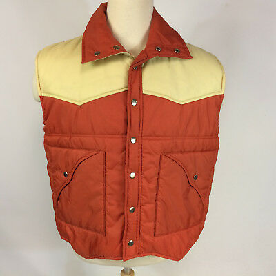 Vintage 70s 80s Color Block Flag Ski Boating Sailing Winter Vest Coat Jacket XL