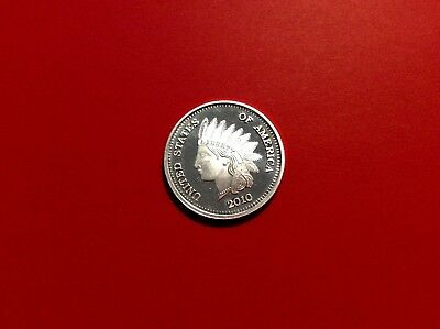 1 Troy Ounce 2010 Indian Head Silver Round .999 Fine
