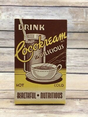 "Vintage Famous Foods Drink ""Cocokream"" 8 oz. Cardboard Box Vancouver, Canada"