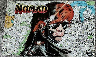 Nomad #1 1991 USA Map Marvel Comics NOMAD PROMO Poster 17 X 11