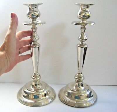 Vintage Silverplate Candlesticks 12 inch tall
