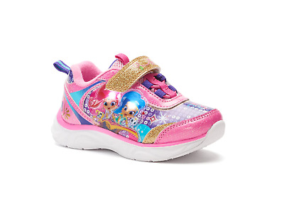 NEW Shimmer and Shine Sneakers Toddler Child Size 6 7 8 9 10 11 or 12 Light Up