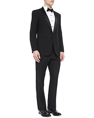 Ralph Lauren Anthony Shawl Collar Black Label Tuxedo Made in Italy Suit BNWT 42L