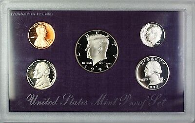 1992 U.S. Mint 5 Coin Proof Set as Issued