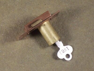 Vintage / Antique Corbin Cabinet Desk Drawer Lock w/ Original Key NOS Hardware