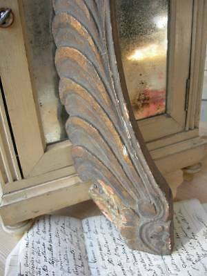 Divine antique French early 19th Century gilded wood angel wing