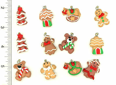 Dollhouse Miniature Christmas Holiday Gingerbread Figures Ornaments