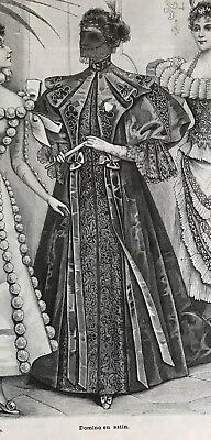French MODE ILLUSTREE SEWING PATTERN January 5,1896 MASQUERADE COSTUMES