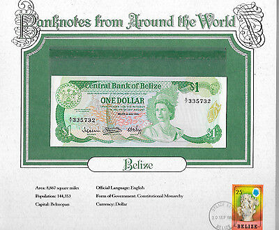 World Banknotes Belize 1 Dollar 1983 GEM UNC P43 prefix A/7