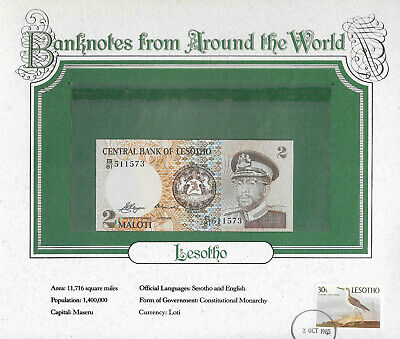 Lesotho 10 Maloti Banknote 1990 Uncirculated Condition Cat#11-A-431171