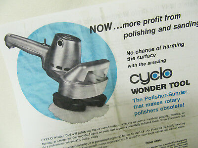 COPY of Vntg CYCLO Wonder Tool Brochure Model 4 and 7-page Instruction Polisher